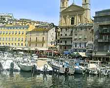 Picture of the harbourfront at Bastia