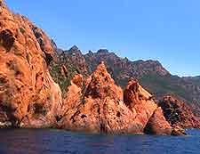 View of Corsica's Calanche Cliffs (Calanques)