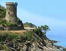 Photo of one of several Genoese Defence Towers to be found on the island