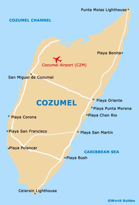 Small Cozumel Map