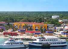 Coastal view of Cozumel