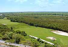 Aerial picture of local golf club