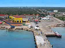 Cozumel Airport (CZM) Travel and Transport: Aerial view of the harbourfront