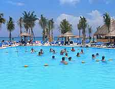 Summer picture of resort pool