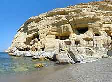 Picture of the unusual Matala Caves