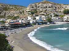 Picture of Matala Beach in Crete