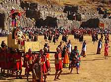 Photo of the city's Inti Raymi, Festival of the Sun