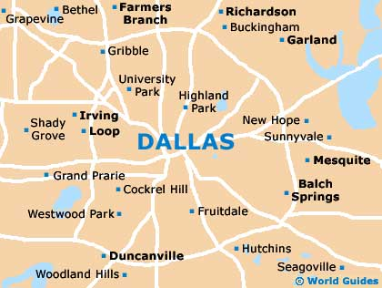 Small Dallas Map