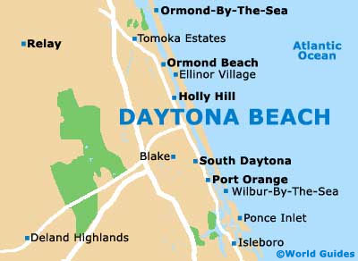 Small Daytona Beach Map