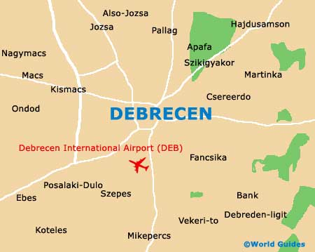 Small Debrecen Map