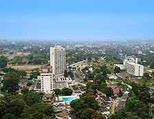 View of downtown Kinshasa city