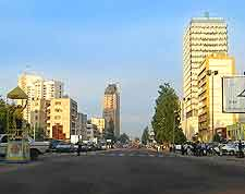 Downtown view of Kinshasa