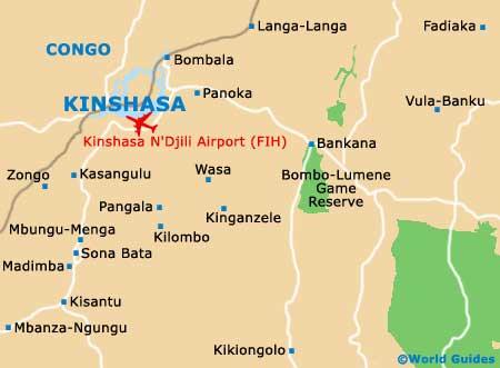 Kinshasa map