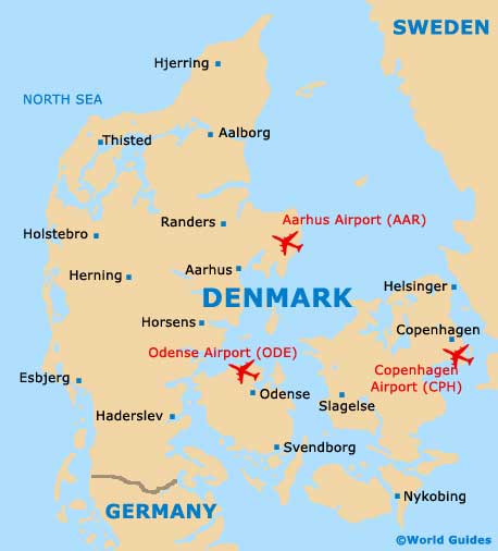 map of denmark europe. Map of Denmark