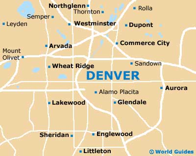 Denver Maps and Orientation: Denver, Colorado - CO, USA