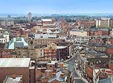 Aerial cityscape photograph