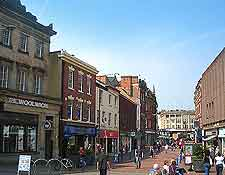 Photo of the city centre and shops