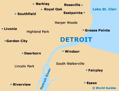 Small Detroit Map