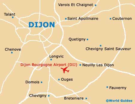 На самолете в Дижон, ближайщие к Дижону аэропорты