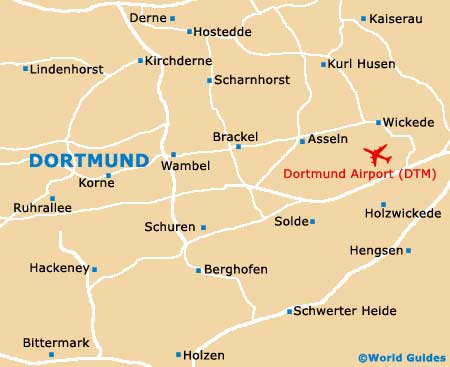 Map Of Dortmund Airport DTM Orientation And Maps For DTM - Germany map dortmund