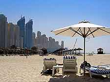 Photo of the sunny beachfront in Dubai, United Arab Emirates