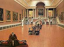 Interior picture of the National Gallery