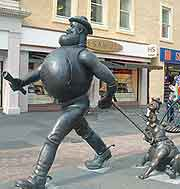 Picture of famous Desperate Dan statue in the city centre