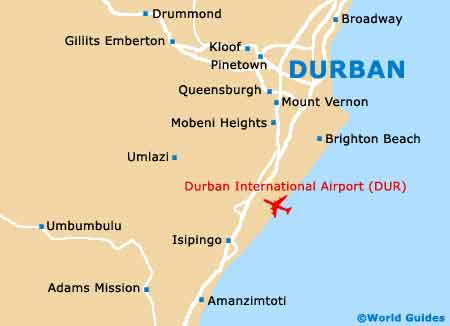 Durban Maps and Orientation: Durban, KwaZulu Natal, South Africa