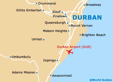 Map of Durban