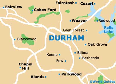 Small Durham Map