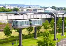 View of the airport sky railway