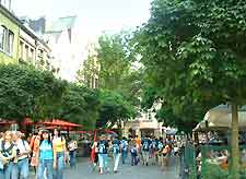 View showing shoppers in the city centre