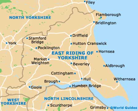 East Riding Yorkshire map