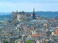 Photo showing Edinburgh Castle and the city's skyline, Edinburgh, Scotland, UK