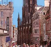 Photograph of Edinburgh's Royal Mile