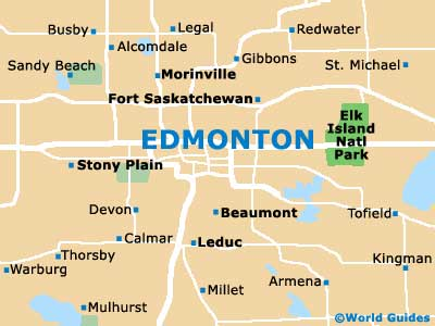 Small Edmonton Map