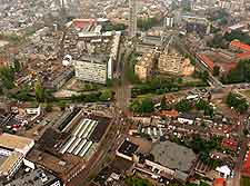 Eindhoven Airport (EIN) Travel, Transport and Car Parking: Aerial photograph of the city