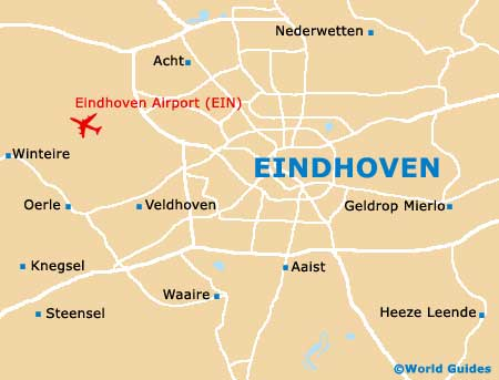 Map of Eindhoven Airport (EIN): Orientation and Maps for EIN ...