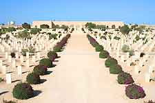 Further photo of the War Cemetery