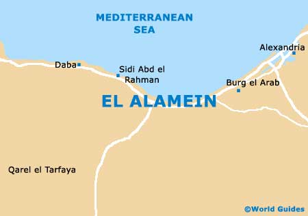 Map of El Alamein