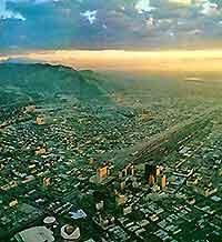 Aerial view of El Paso