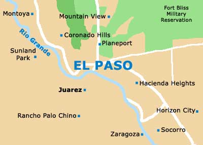 El Paso Maps and Orientation El Paso Texas TX USA