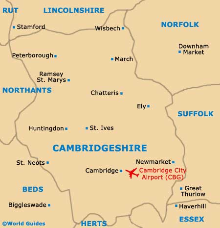 Cambridgeshire map