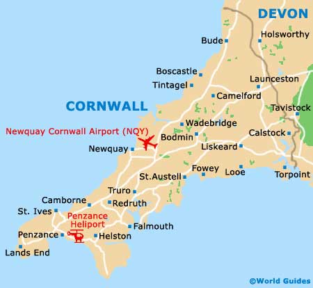 Cornwall map