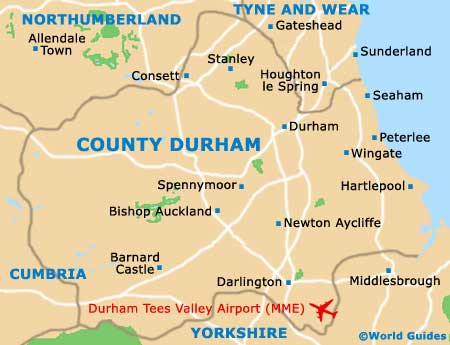 County Durham Map