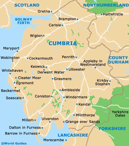 Cumbria map