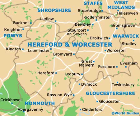 Hereford Worcester Map