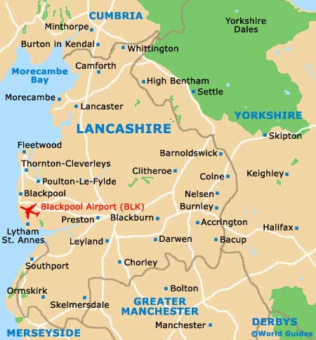 Lancashire England Map Blackpool Maps and Orientation: Blackpool, Lancashire, England