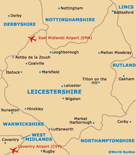 Leicester Maps and Orientation Leicestershire England