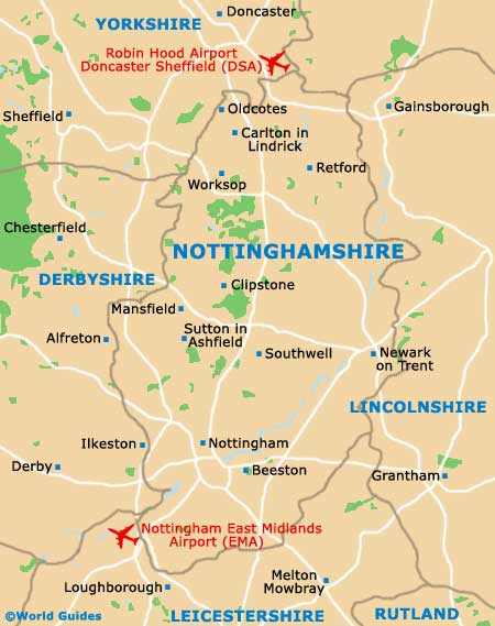Nottinghamshire Map